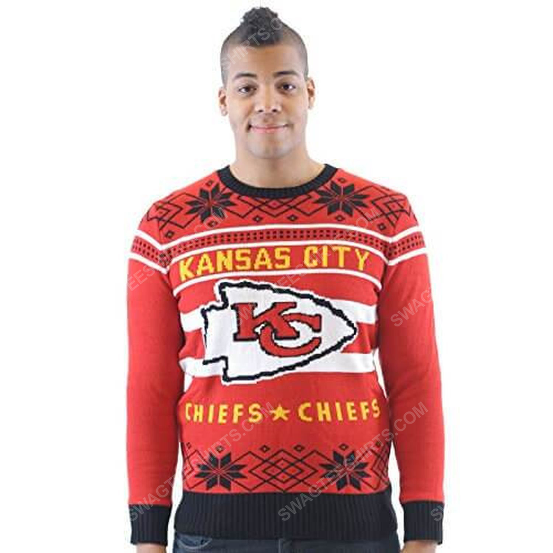 NFL kansas city chiefs full print ugly christmas sweater 4