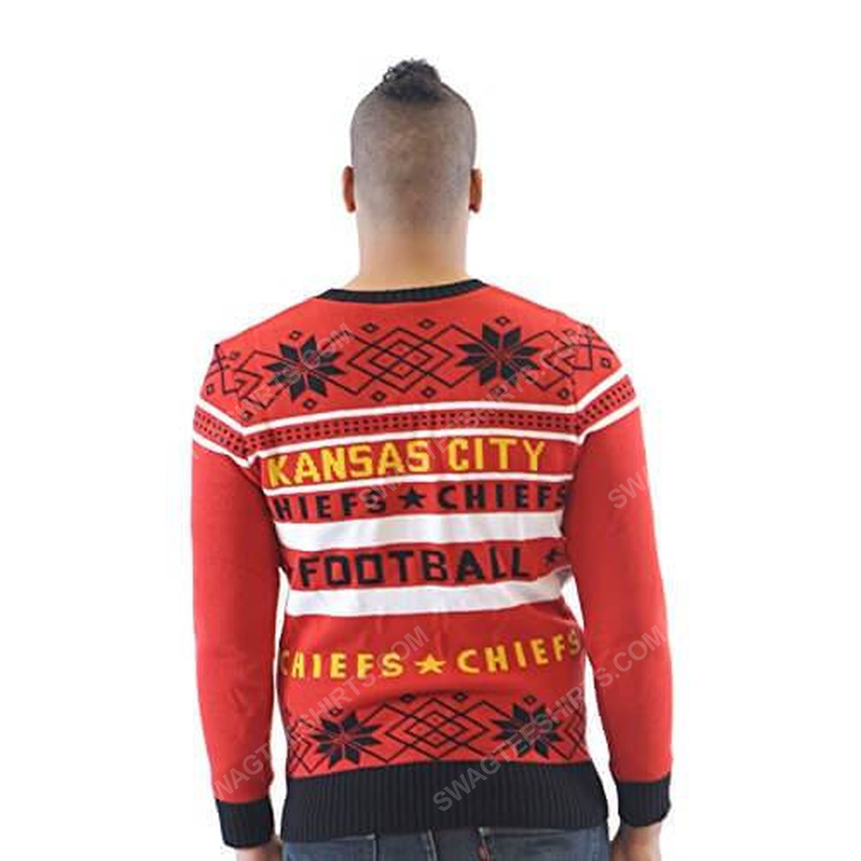 NFL kansas city chiefs full print ugly christmas sweater 5