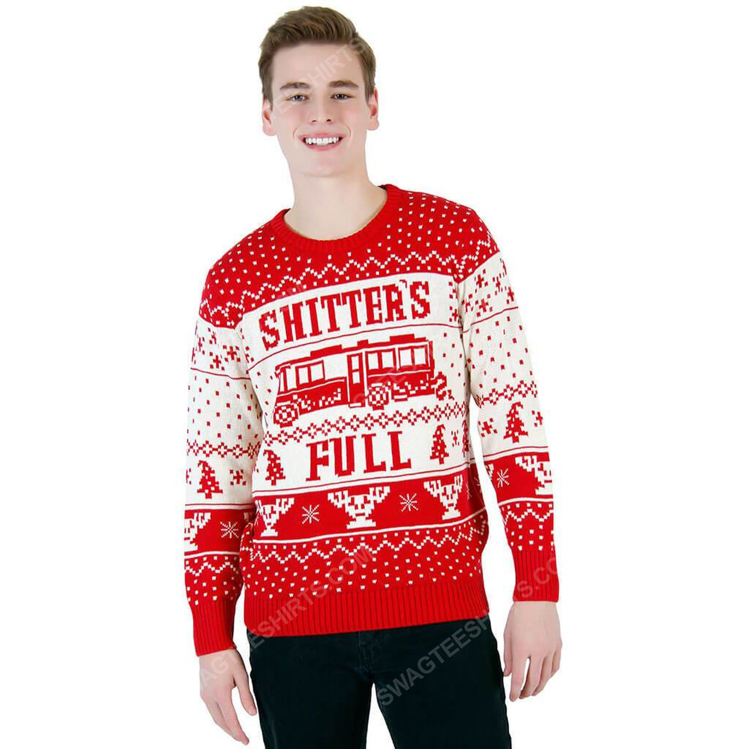 National lampoon vacation shitter's full ugly christmas sweater 2
