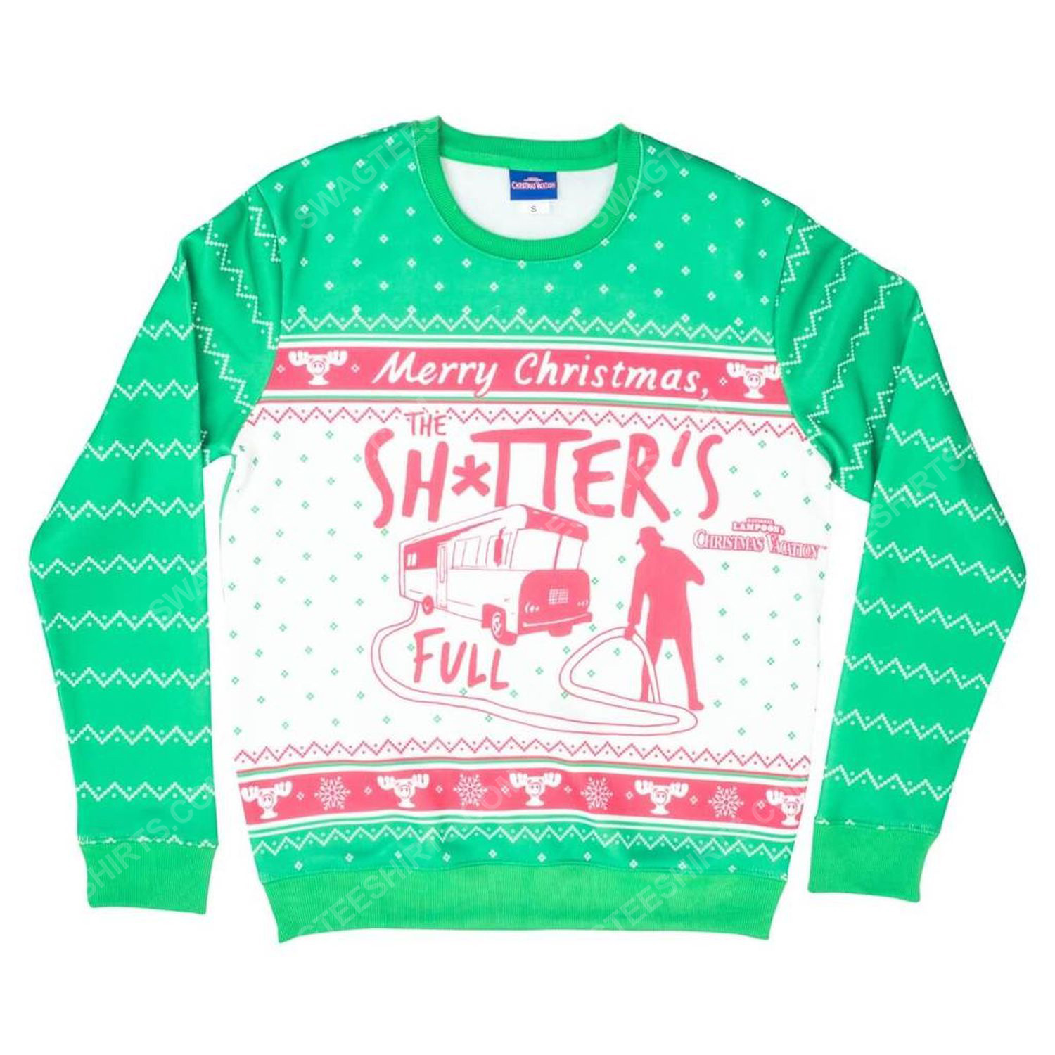 National lampoon's christmas vacation merry christmas shitter was full ugly christmas sweater 2 - Copy (2)