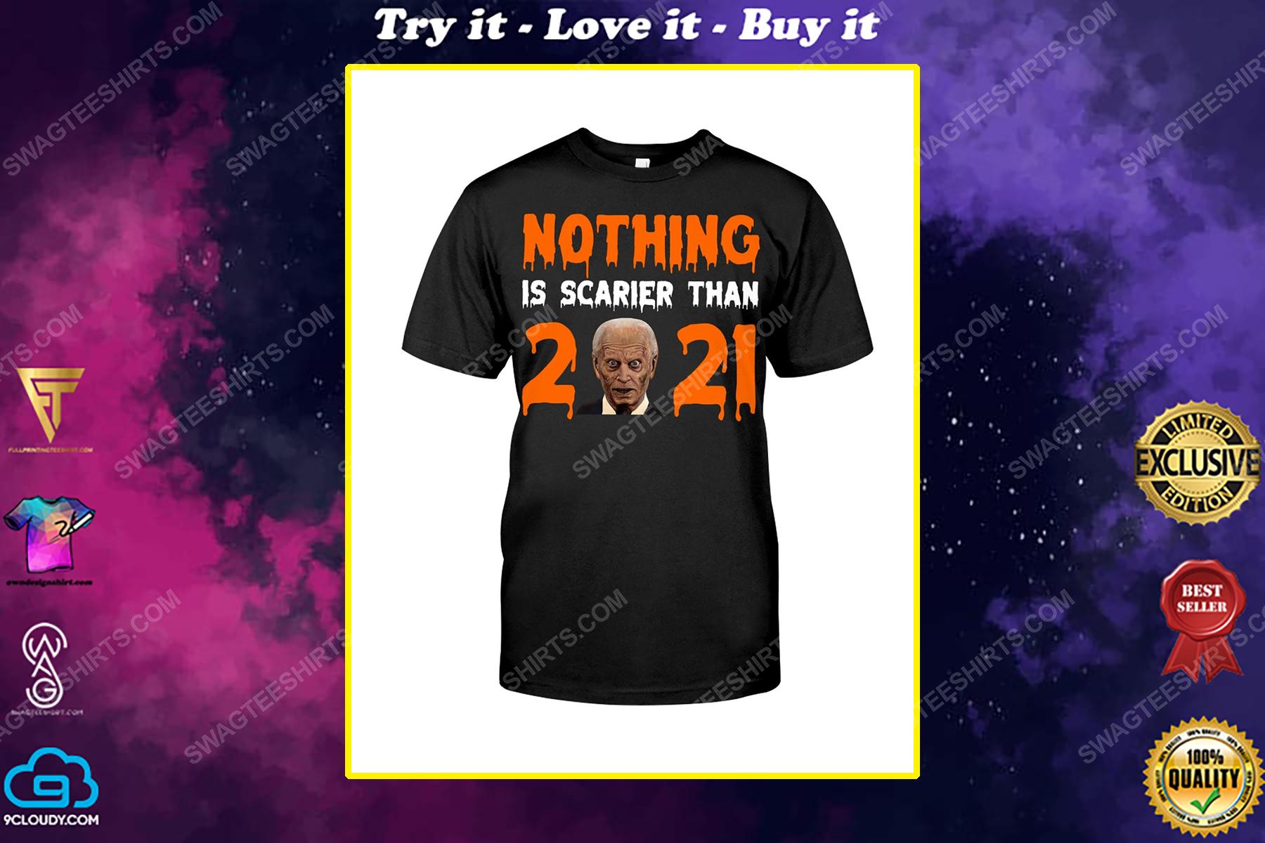 Nothing is scarier than 2021 joe biden zombie political shirt