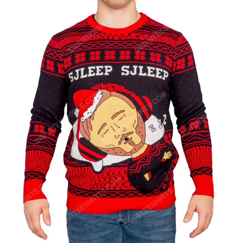 Pewdiepie sjleep sjleep full print ugly christmas sweater 3