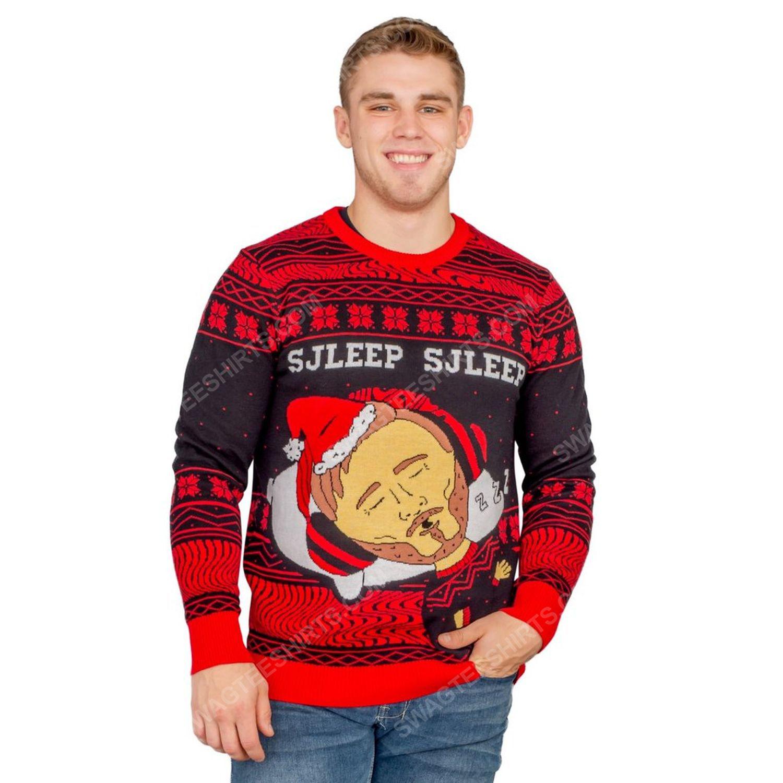 Pewdiepie sjleep sjleep full print ugly christmas sweater 4