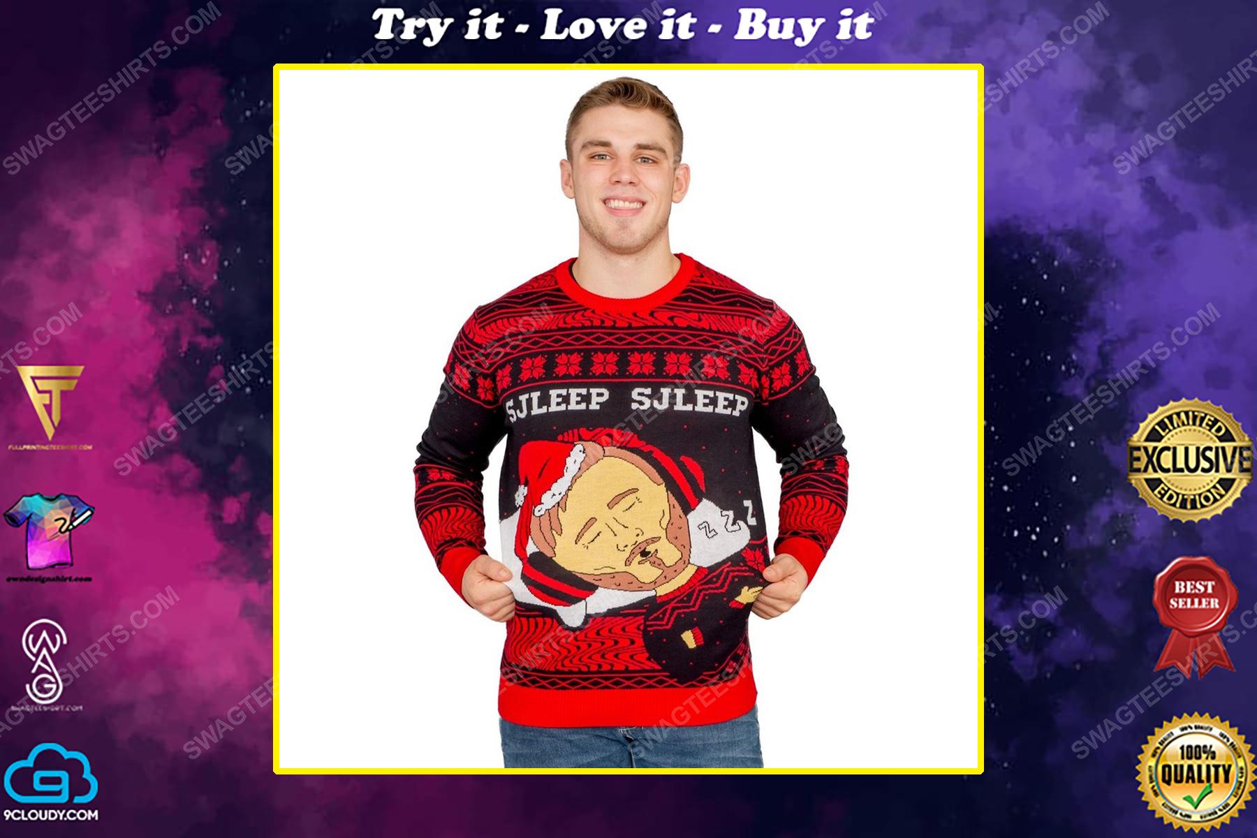Pewdiepie sjleep sjleep full print ugly christmas sweater