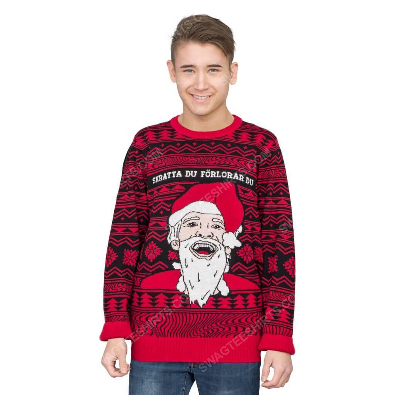 Pewdiepie skrattar du forlorar du ugly christmas sweater 2 - Copy