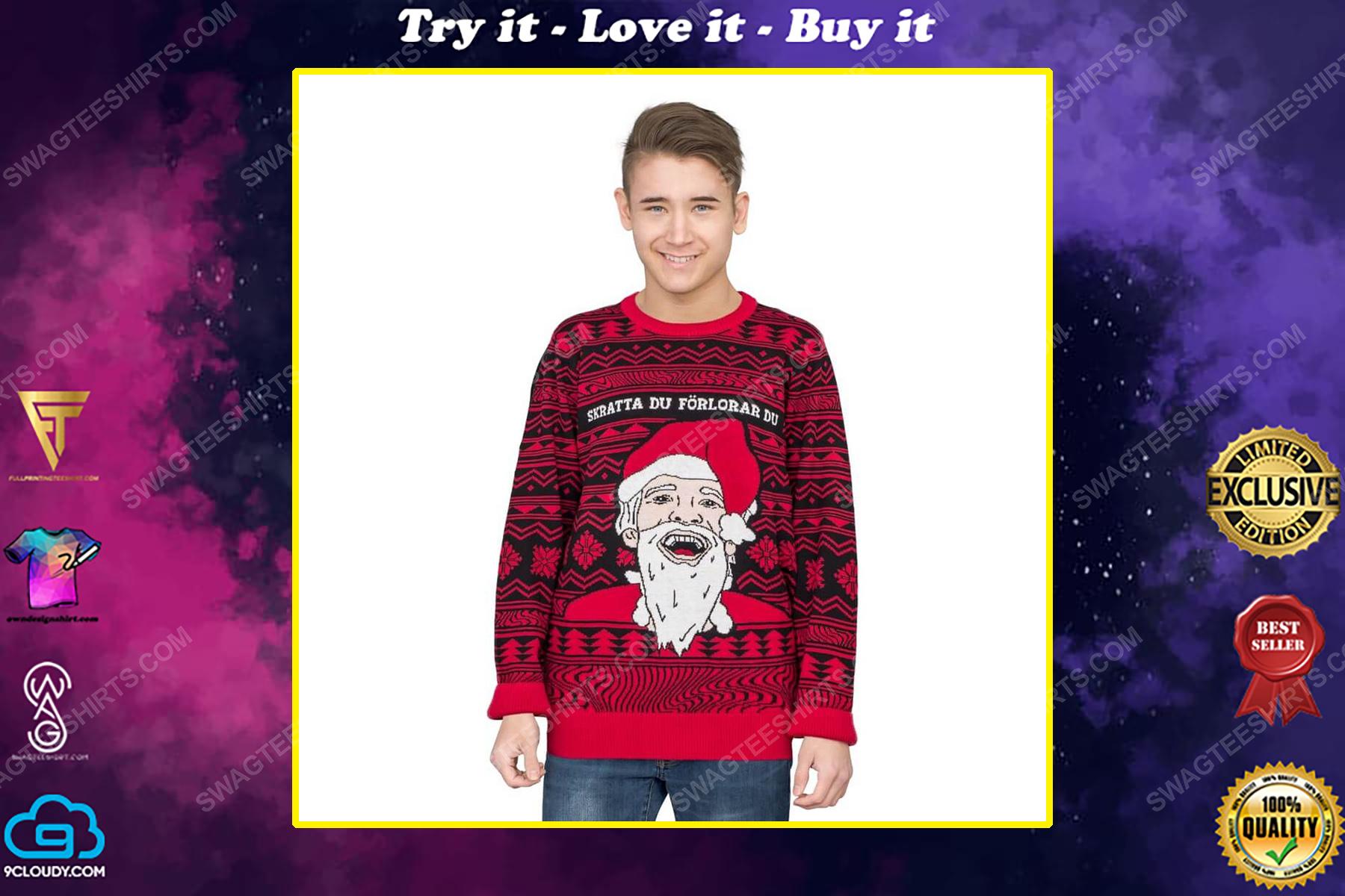 Pewdiepie skrattar du forlorar du ugly christmas sweater