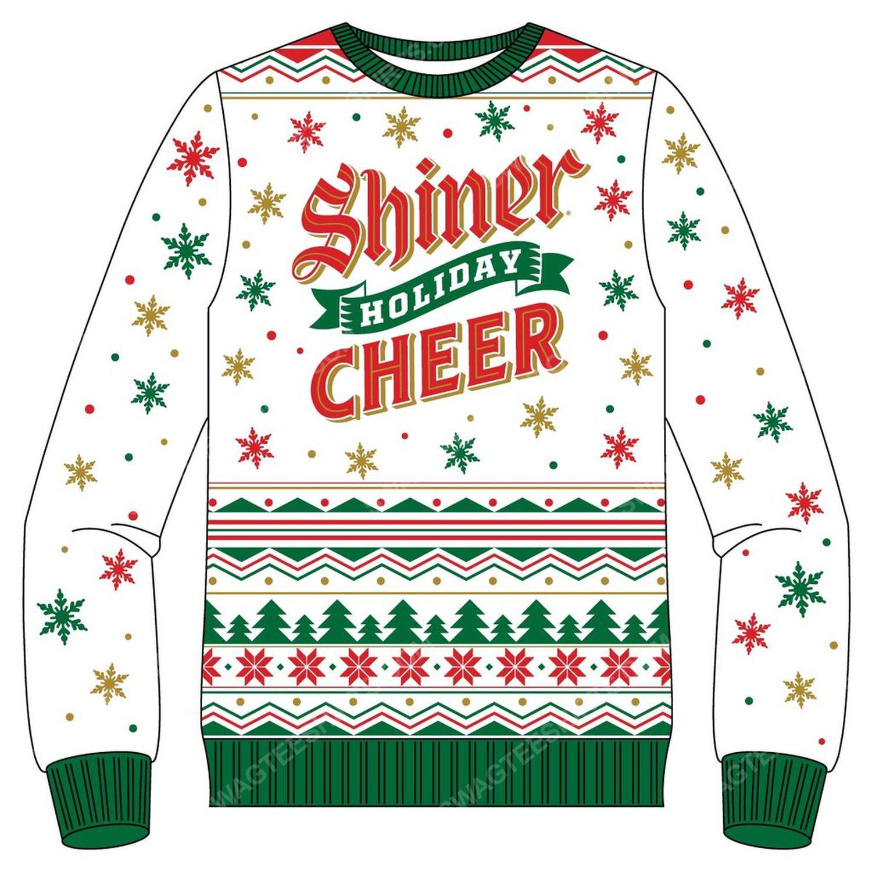 Shiner holiday cheer full print ugly christmas sweater 2