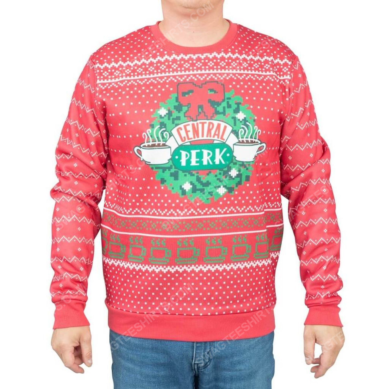 TV show friends central perk full print ugly christmas sweater 2 - Copy