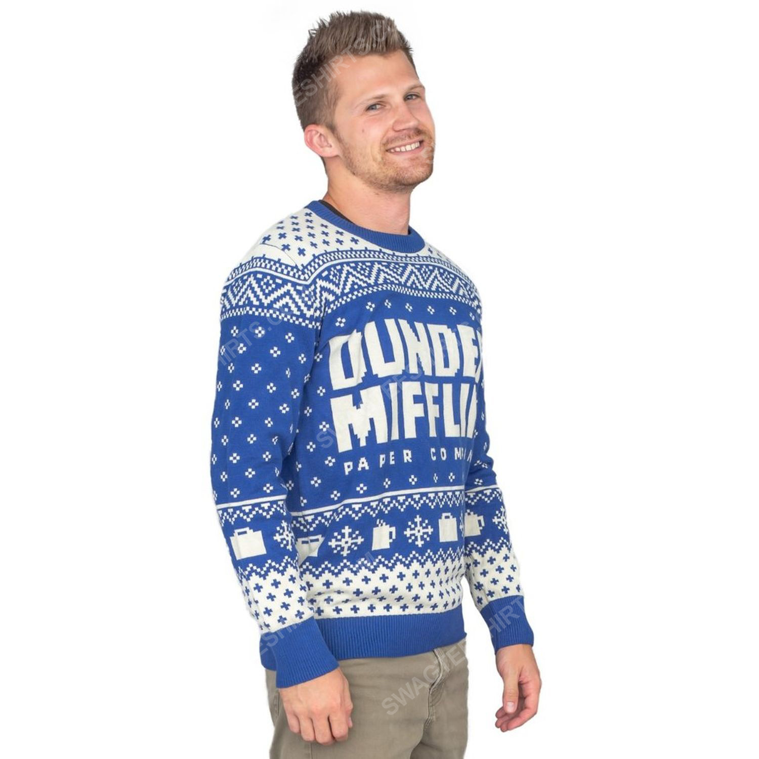 TV show the office dunder mifflin full print ugly christmas sweater 4