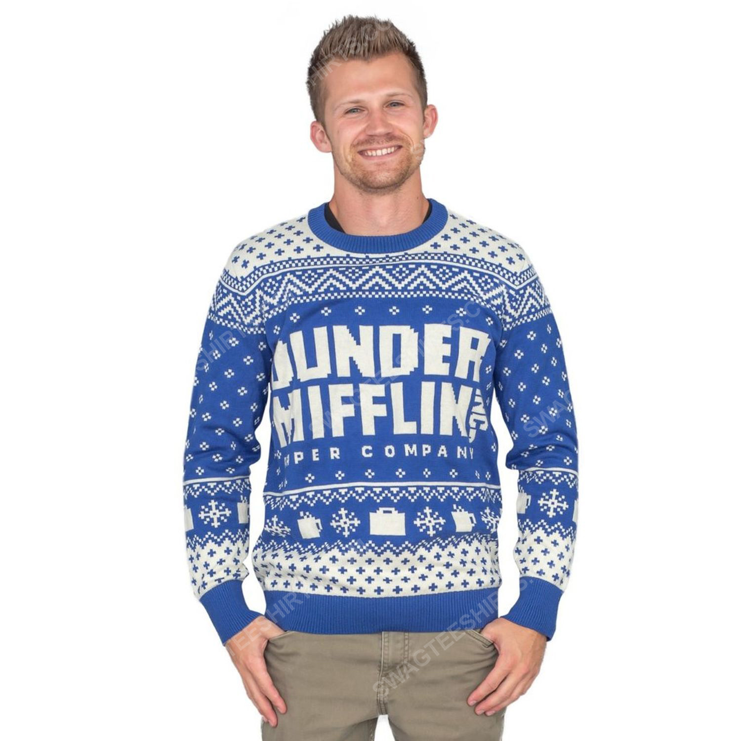 TV show the office dunder mifflin full print ugly christmas sweater 5