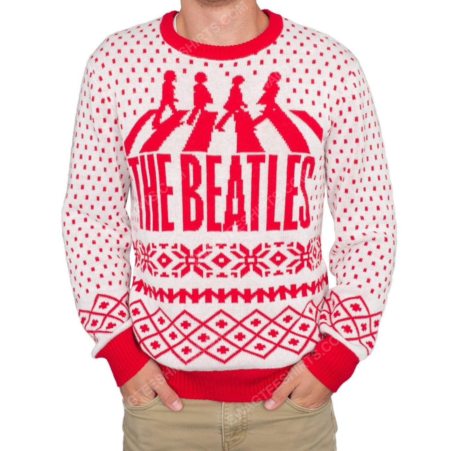 The beatles abbey road full print ugly christmas sweater 2 - Copy