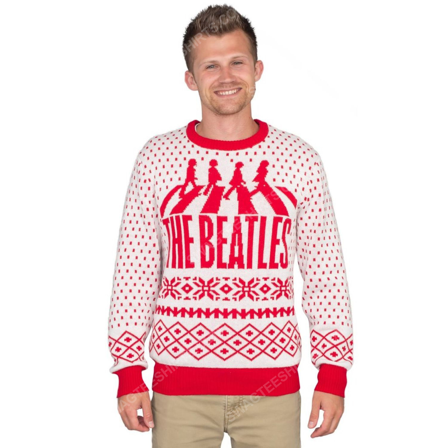 The beatles abbey road full print ugly christmas sweater 4