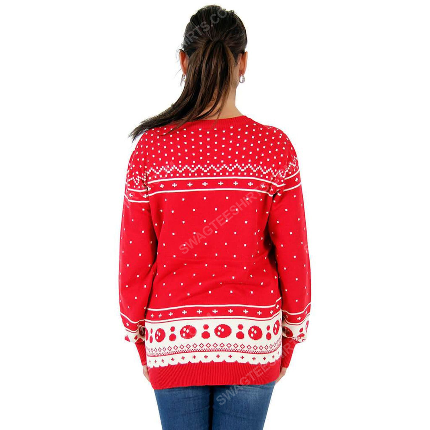The big lebowski the dude abides full print ugly christmas sweater 3 - Copy