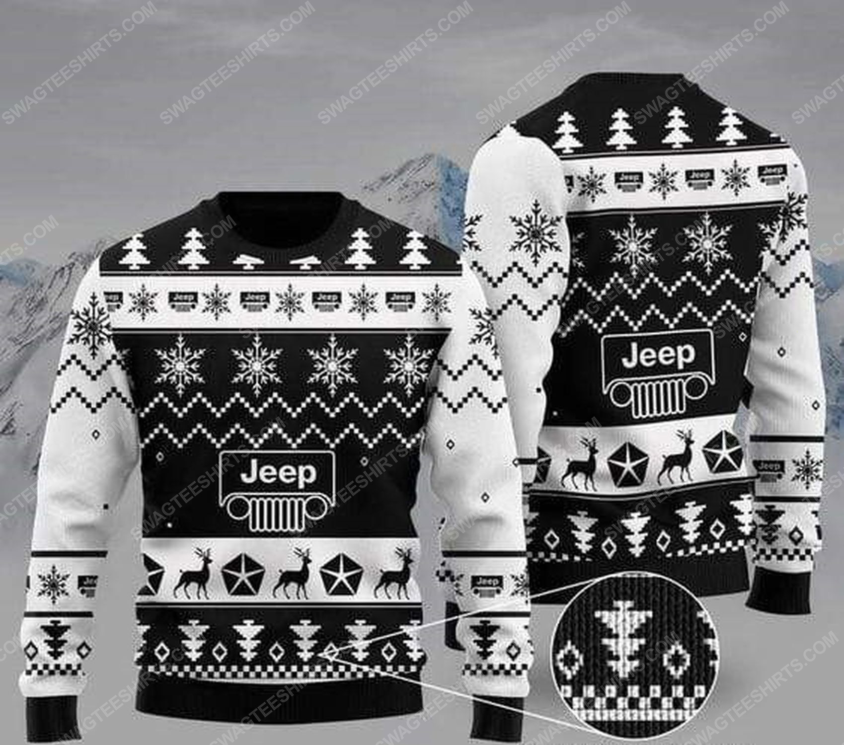 The jeep car all over print ugly christmas sweater 1 - Copy - Copy
