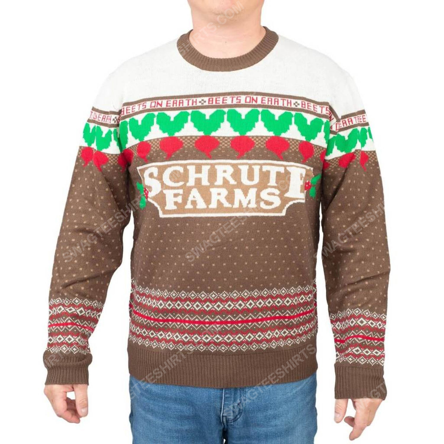 The office dwight schrute farms beets full print ugly christmas sweater 2
