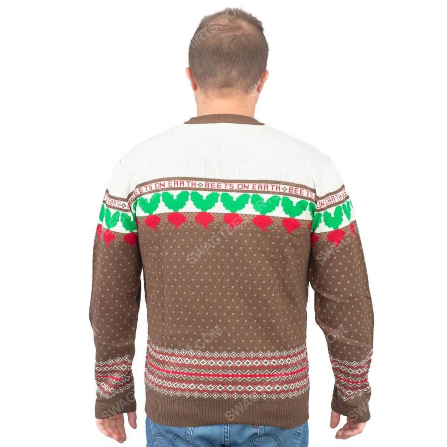 The office dwight schrute farms beets full print ugly christmas sweater 3