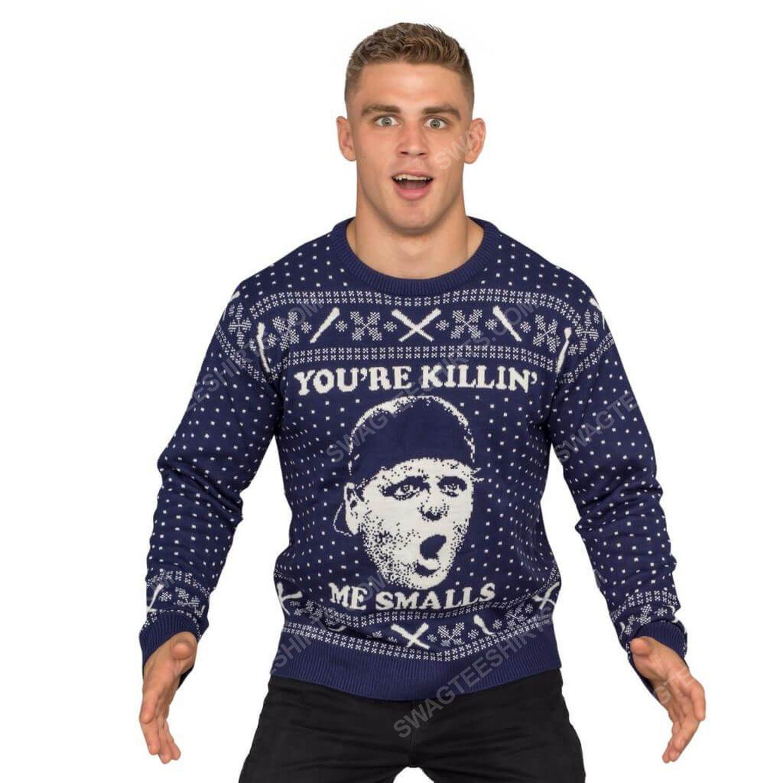 The sandlot you're killin me smalls full print ugly christmas sweater 2