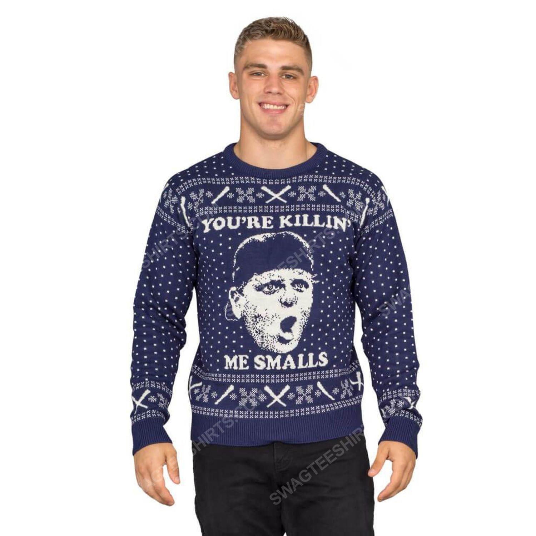 The sandlot you're killin me smalls full print ugly christmas sweater 3
