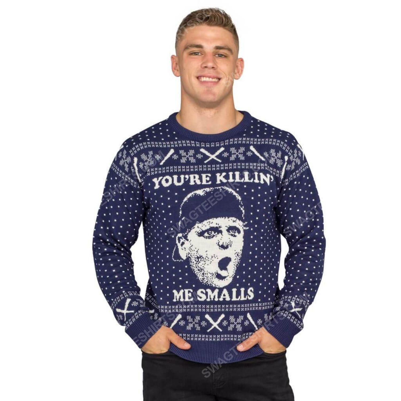 The sandlot you're killin me smalls full print ugly christmas sweater 4