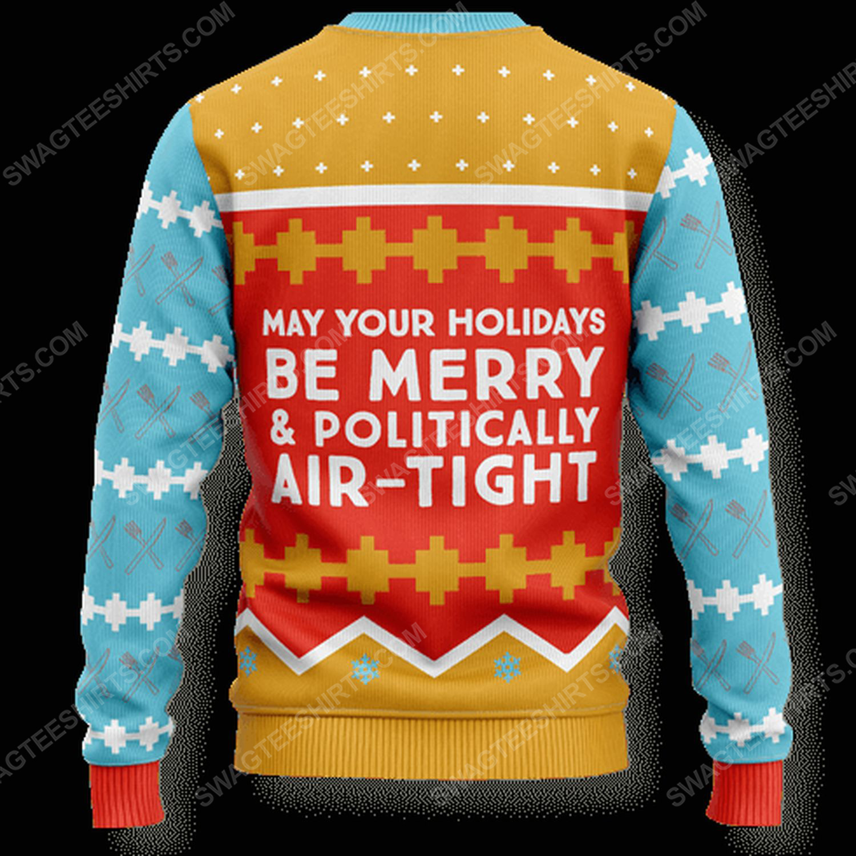 Tofurky high five full print ugly christmas sweater 3