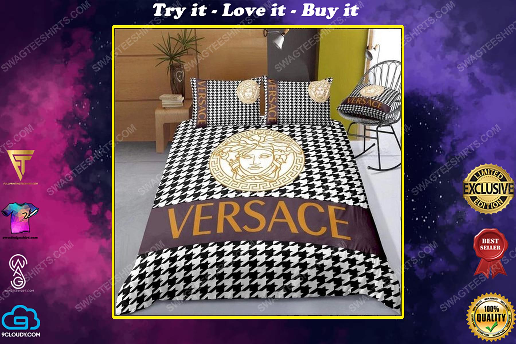 Versace home monogram full print duvet cover bedding set