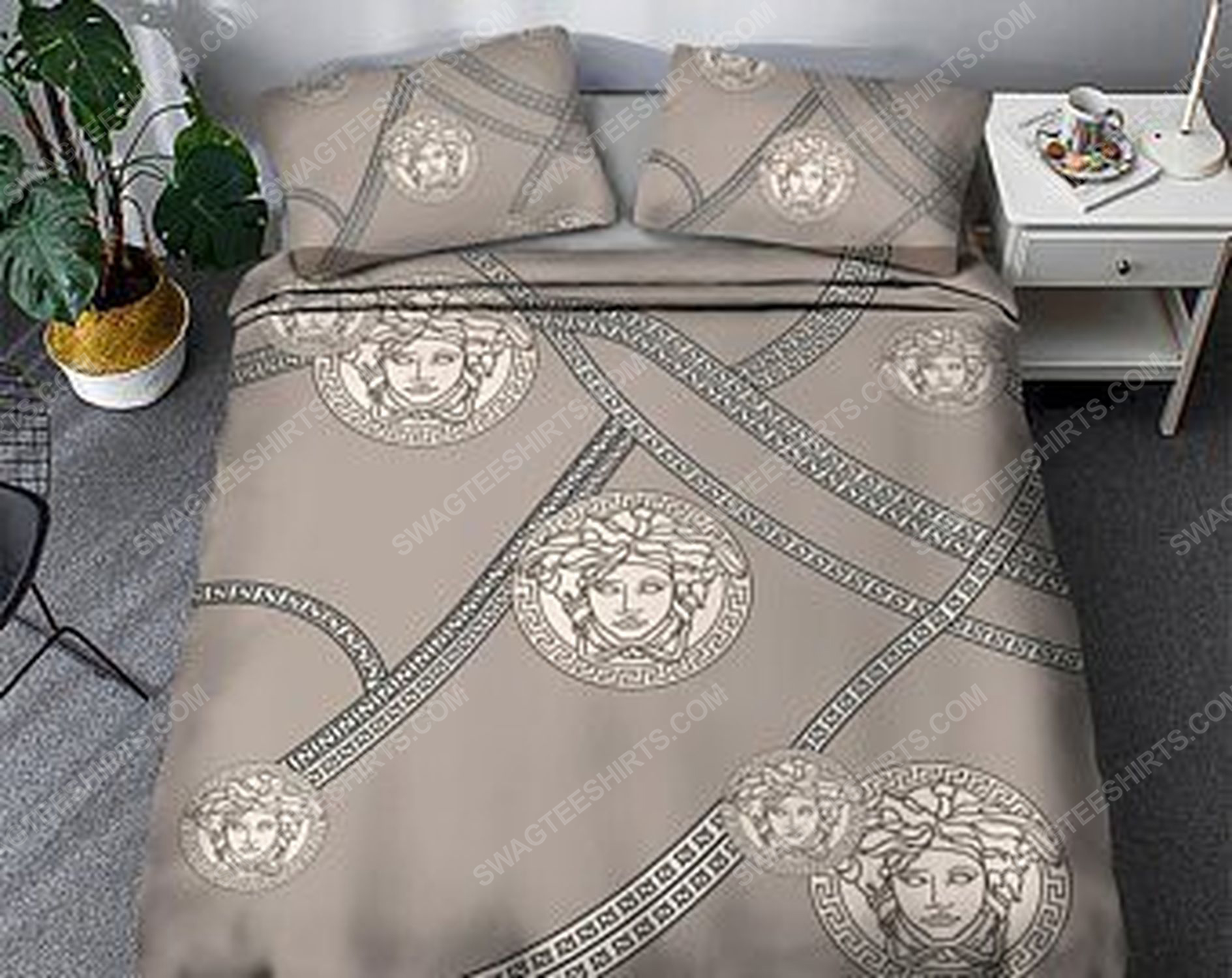 Versace luxury version full print duvet cover bedding set 3 - Copy