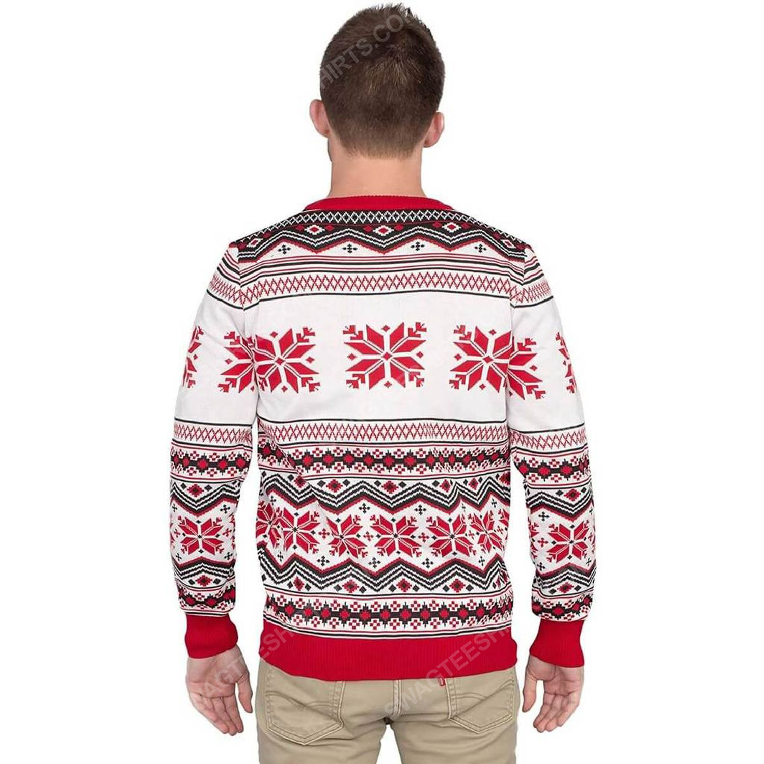 Why is the carpet all wet todd full print ugly christmas sweater 4