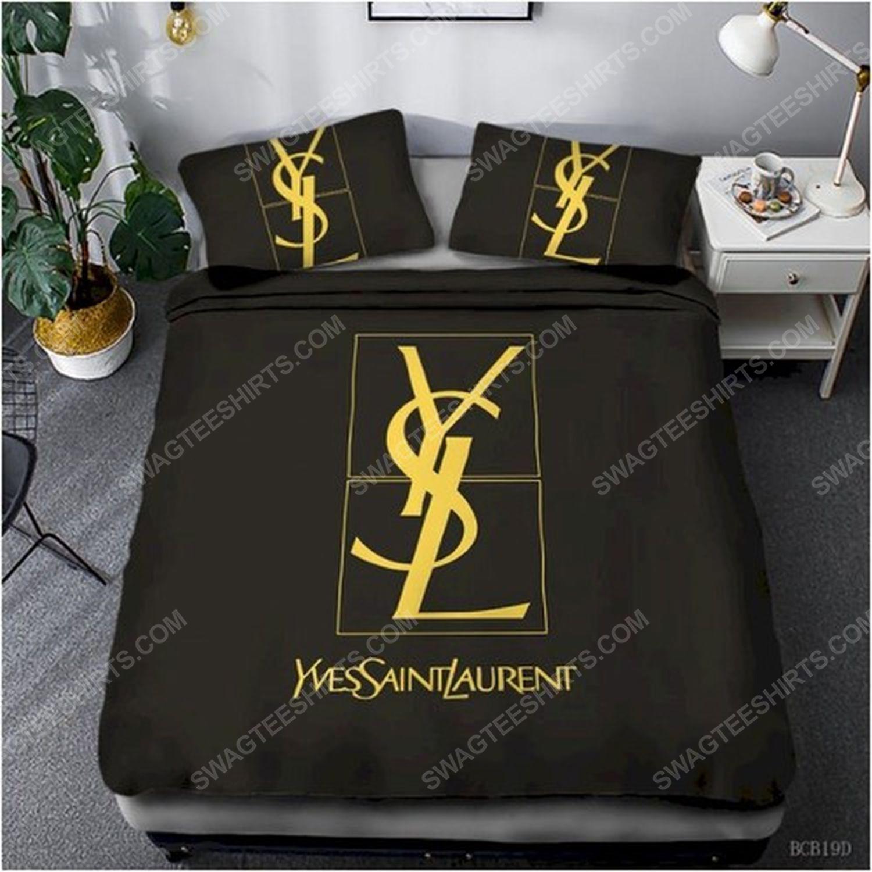 Yves saint laurent full print duvet cover bedding set 3