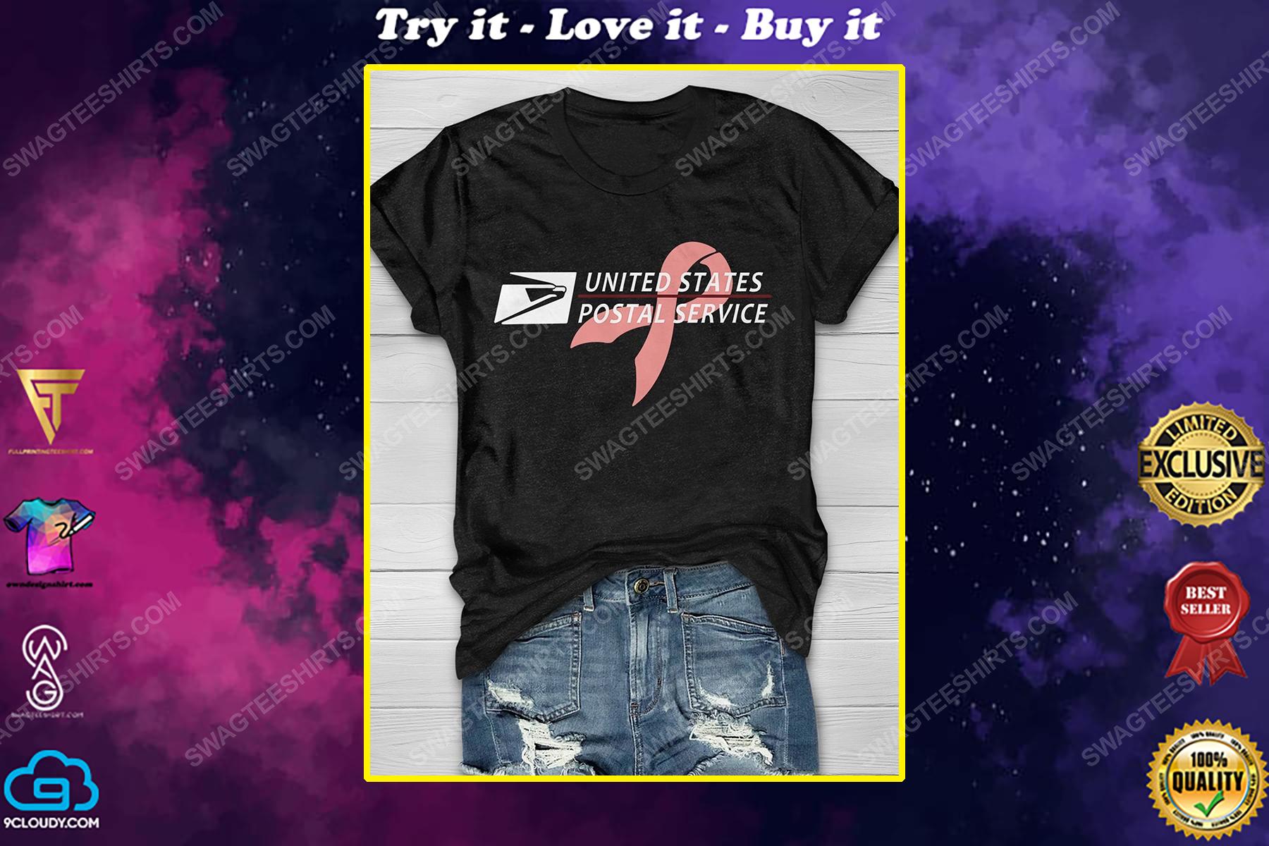 Breast cancer awareness united states postal service shirt