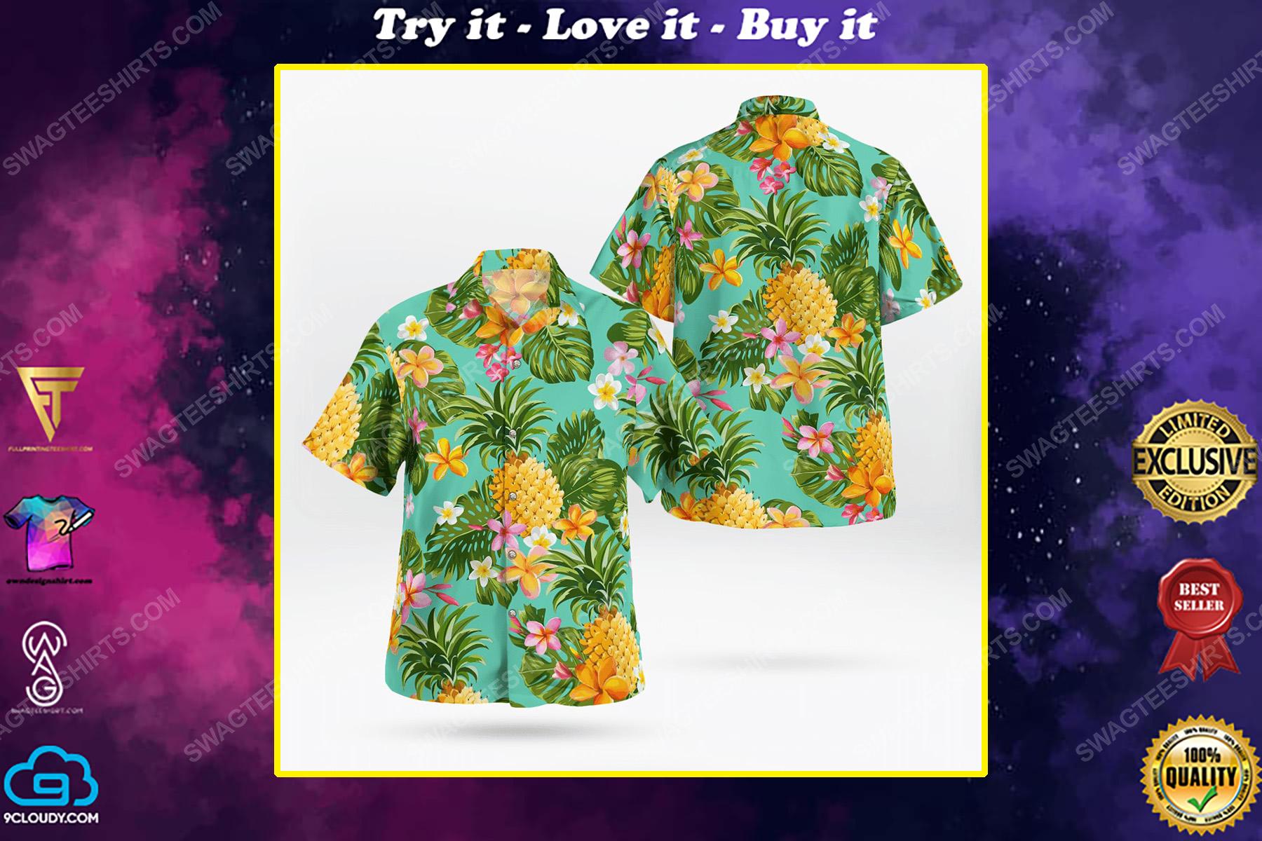 Fruits and flower tropical hawaiian shirt