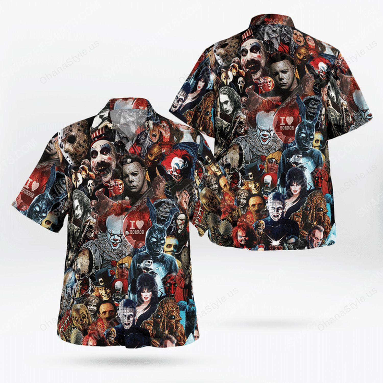 Halloween night horror killer hawaiian shirt 1