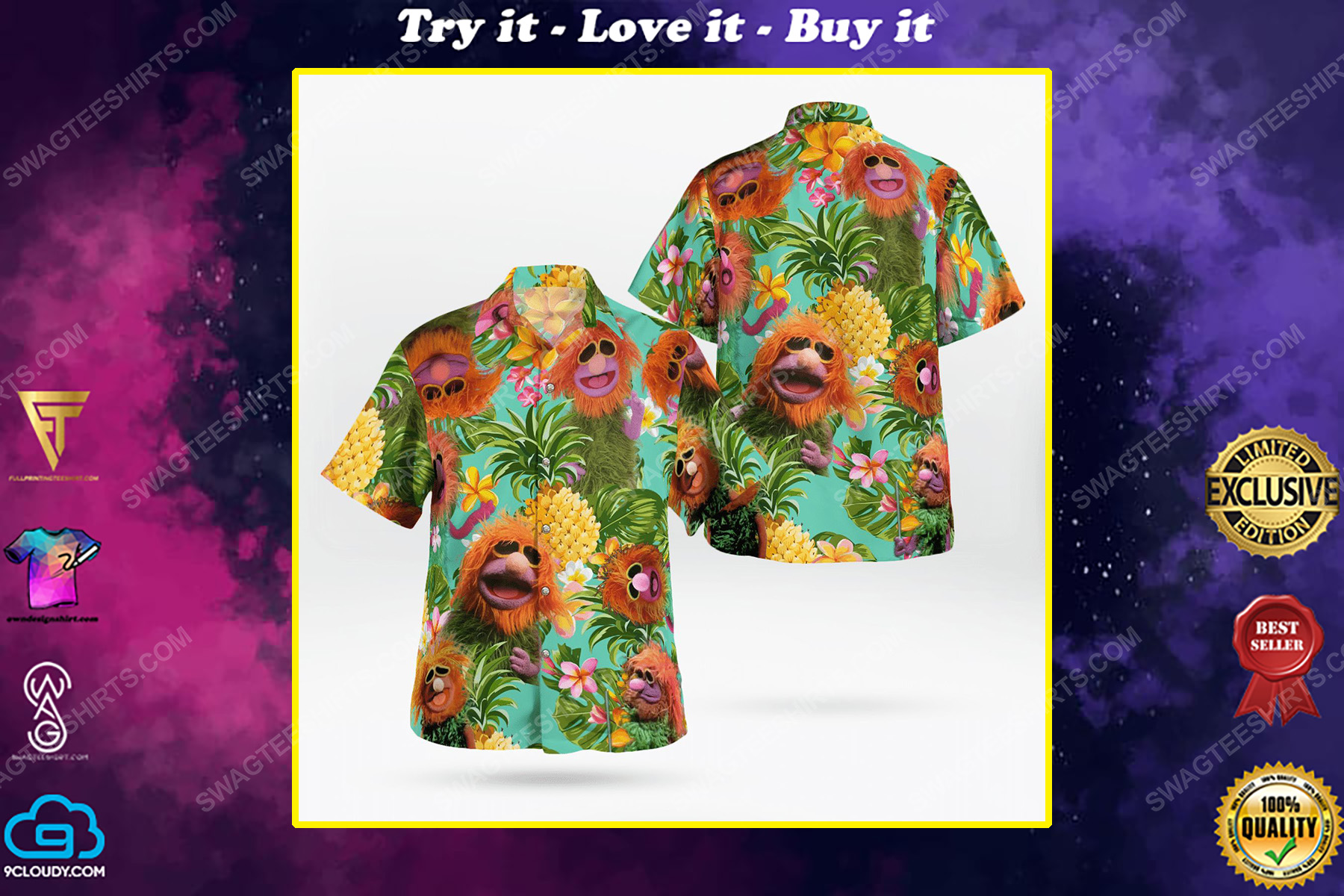 Mahna mahna the muppet show hawaiian shirt