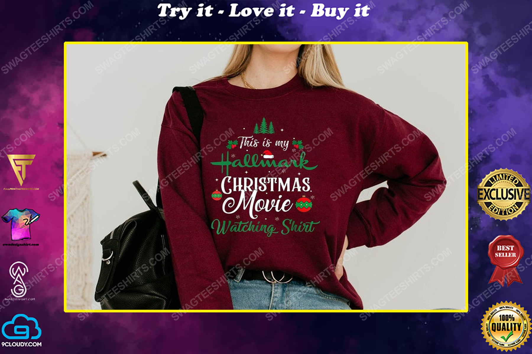 Merry christmas this is my hallmark christmas movie watching shirt