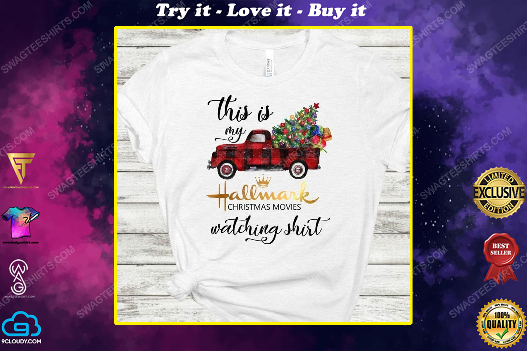 Red truck and christmas tree this is my hallmark christmas movie watching shirt