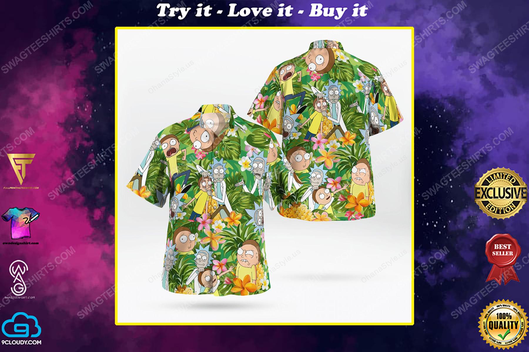 Rick and morty tropical hawaiian shirt