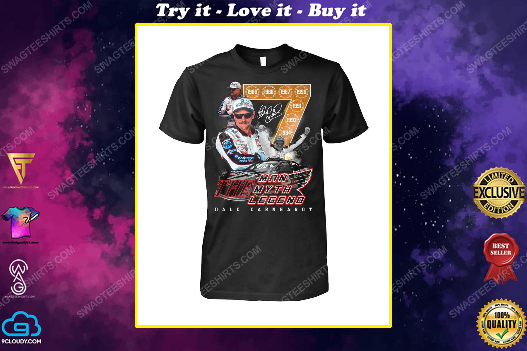 The man the myth the legend dale earnhardt car driver shirt