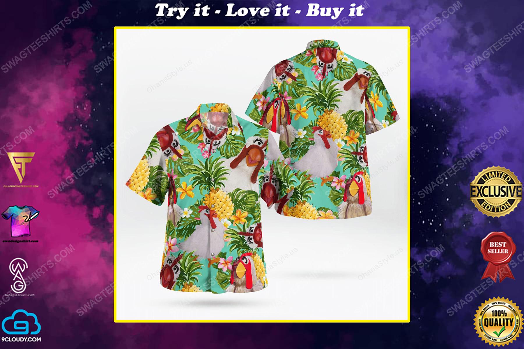 The muppet show camilla the chicken hawaiian shirt