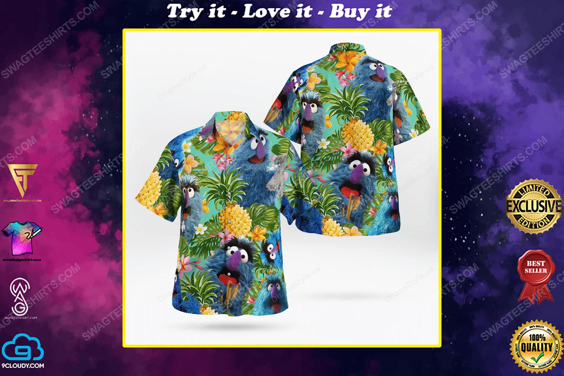 The muppet show herry monster hawaiian shirt