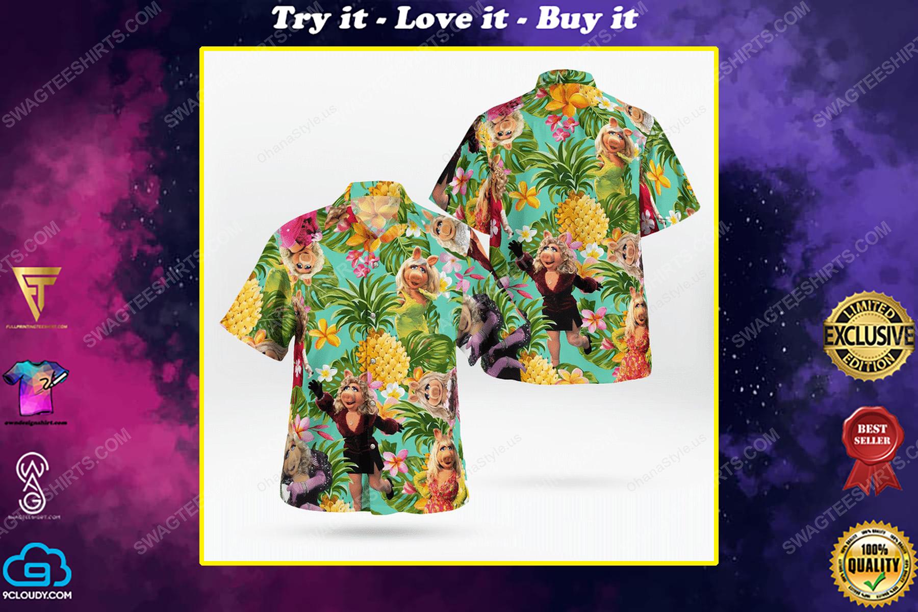 The muppet show miss piggy hawaiian shirt