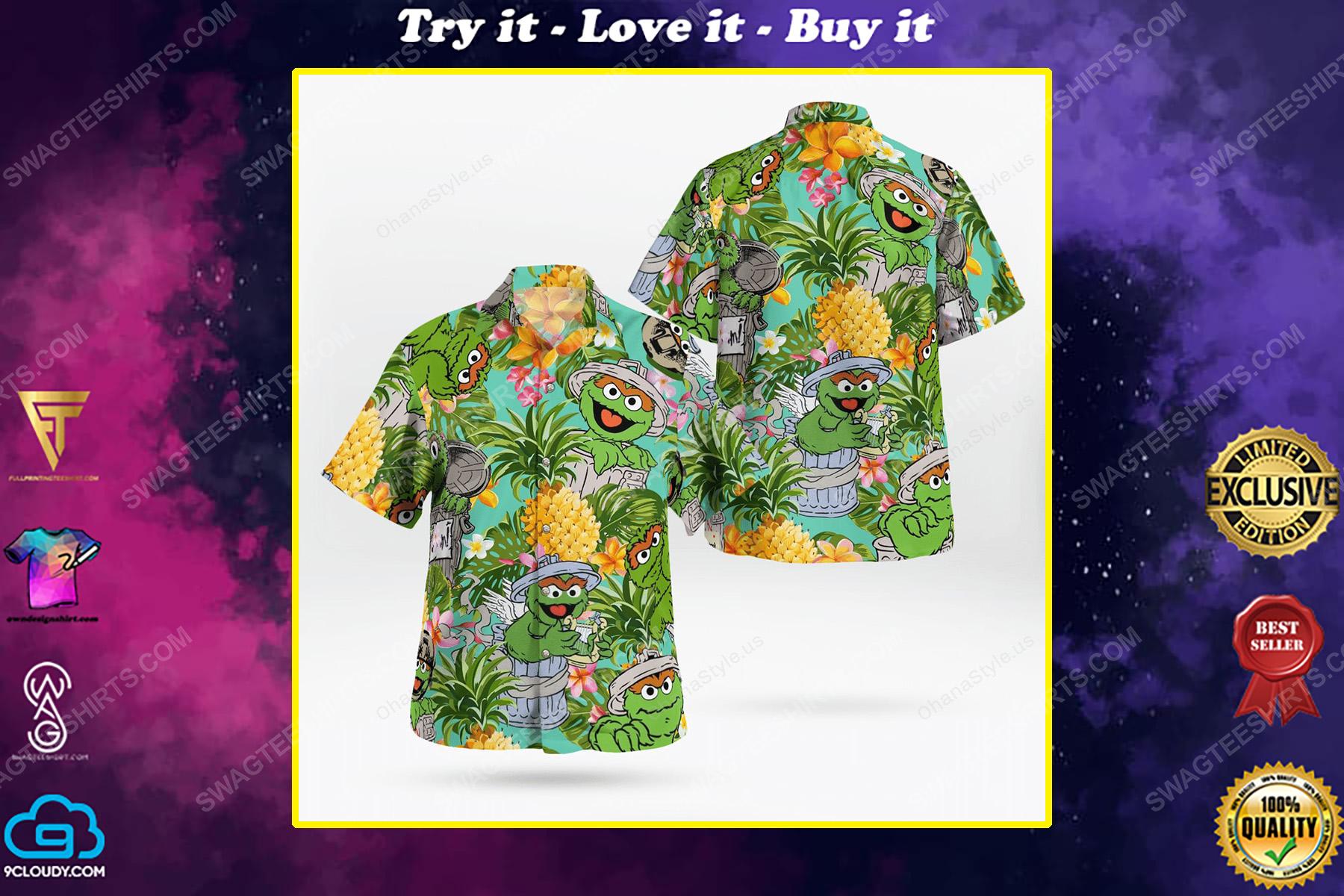 The muppet show oscar the grouch hawaiian shirt