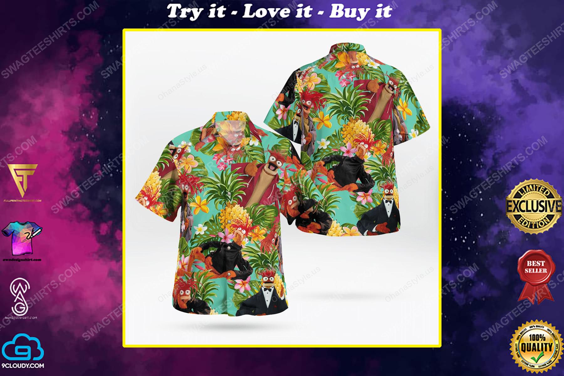 The muppet show pepe the king prawn hawaiian shirt